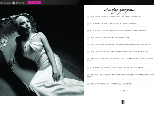 ladygaga Website